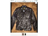 Belstaff leather jacket.