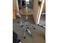 Full Set of Drum and Cymbal Hardware, Stands, Pedals etc, includes Ludwig 300 Series Pack