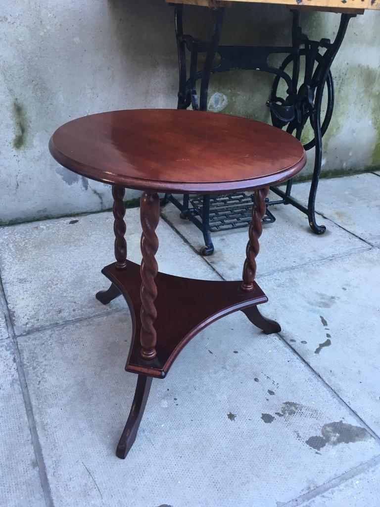 Small mahogany lamp table