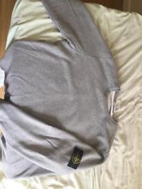 Grey stone island sweatshirt