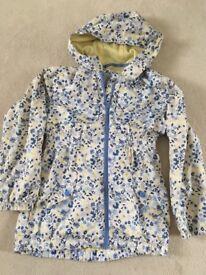Girls floral soft feel rain coat age 9-10 yrs