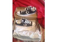 Brand new with the box and bag and receipt size 8 converse trainers