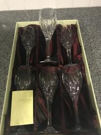 100% Irish crystal wine glasses - set of 6