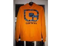Boys Carbrini Orange Hooded Jumper Age 12-13 Years IP1