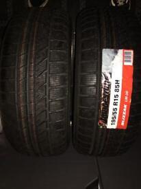 Bridgestone winter tyres 195 55 15 new
