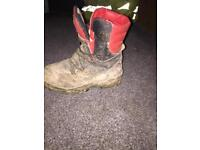 Chainsaw boots size 8