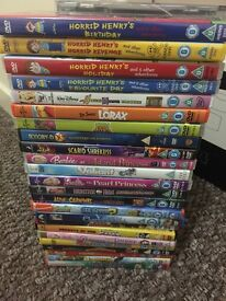 Large bundle of kids DVDs