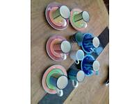 Expresso coffee cups and saucers