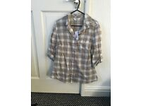F&f checked shirt size 12 with tags