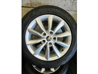-- GENUINE SKODA OCTAVIA ALLOYS + TYRES --