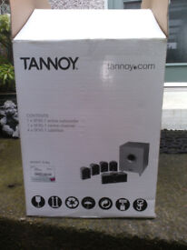 Tannoy SFX5.1 Surround Sound Speakers, Active Subwoofer. Boxed