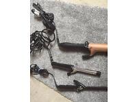 3x hair curling tongs, including a £35 by Diva,