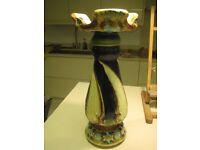Glazed Pottery Majolica Jardenaire Base