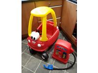 Little Tikes Car and petrol pump (only used in the house so excellent condition)