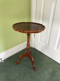 Reproduction yew side table