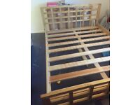 Solid king size bed frame for sale £70