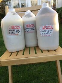 Pottery white decorating slip. 3 containers x 5Litres each . Unused.