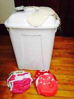 Apple Cheeks and Super Brite and Diaper pail