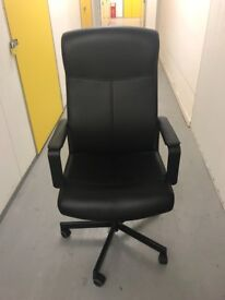 Ikea Leather Lumbar Office Chair