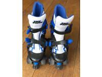 No Fear Roller Skates adjustable size 1-4 blue, white & black