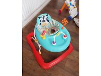 Baby jumperoo, baby walker, door bouncer, sterilliser