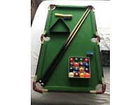 Wooden Pool Table (Mini). Excellent condition.