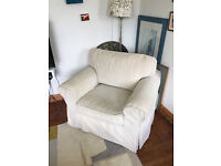 Large comfy armchair. Ektorp. White.