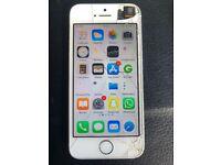 iPhone se white/silver 16gb