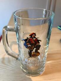 6 x Captain Morgan Spiced Rum Glasses for pubshed mancave