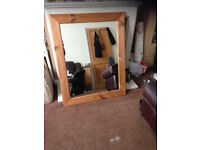 Solid pine framed mirror