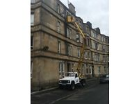 CHERRY PICKER HIRE WITH OPERATOR /EDINBURGH ALL AREAS/EXTERIOR PAINTING/GUTTERS /ROOFING ETC