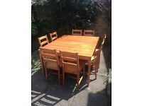 Pine Dining Tables and Chairs
