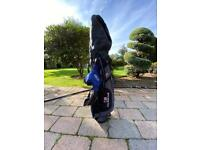 """US Kids Golf Bag Blue with Clubs 45"""""""
