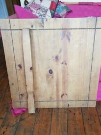 Wooden table and matching coffee table £30