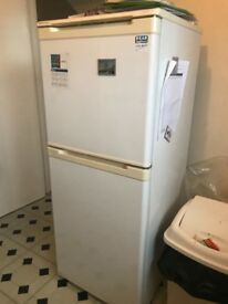 White fridge freezer for sale approx 1.60m tall.