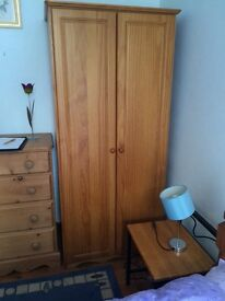 Solid pine wardrobe ( as new)