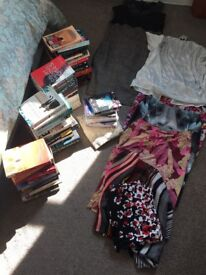 Car boot booty! Includes books, clothes, odds & sods