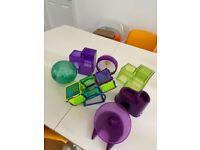 Plastic hamster toys