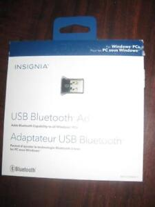 Insignia USB Bluetooth 4.0 Adapter / Adaptor. For Computer / Laptop / Notebook / Macbook / Desktop / Keyboard / Phone