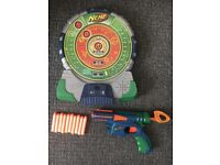 Nerf Target Board and Gun