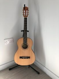 Fender Acoustic Guitar w/ stand, bag, capo