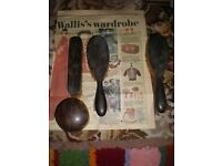 Wallis Simpson wardrobe collectors copies brushes and jewellery box in tortoise shell colours