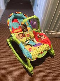 Baby rocker to toddler seat