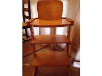 Guether Wooden high chair