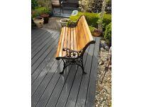 "Garden Bench Refurbished ""Lionside"" Design"