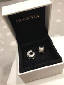 Genuine Pandora Charm Bracelet Clips
