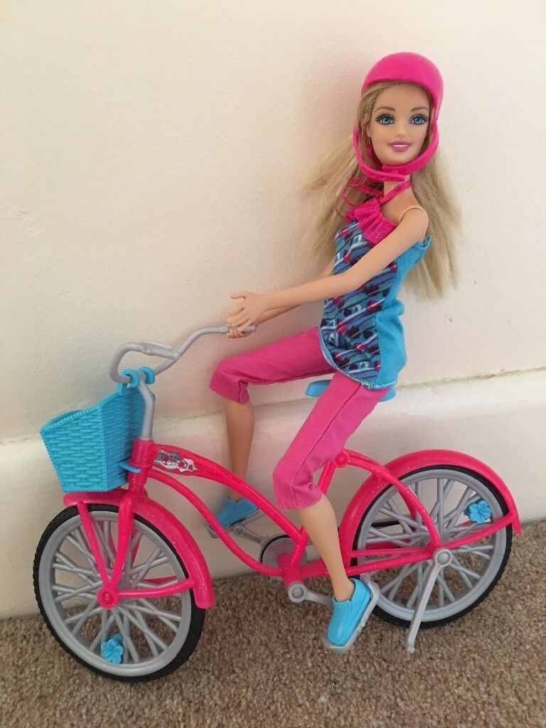 Barbie on her bike