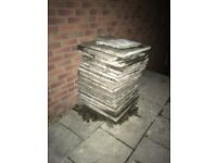Patio slabs free for collection
