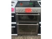 STOVES 60CM CEROMIC TOP ELECTRIC COOKER IN SHINY SILIVER