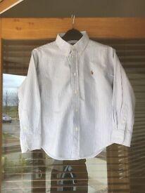 Boys Ralph Lauren blue and white shirt size 6